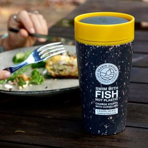 recycled reusable coffee cup